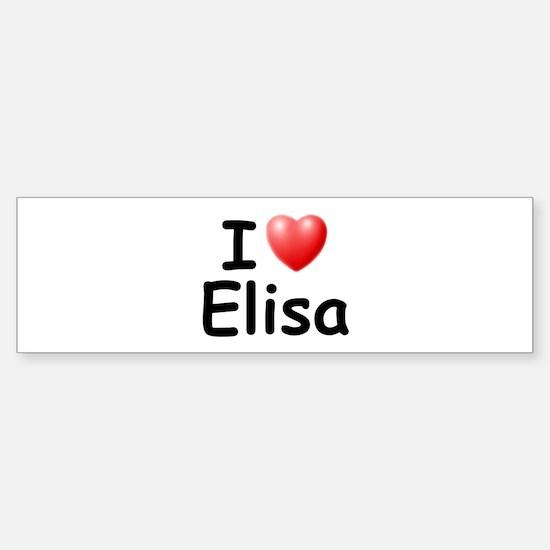 I Love Elisa (Black) Bumper Bumper Bumper Sticker