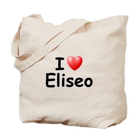 I Love Eliseo (Black) Tote Bag