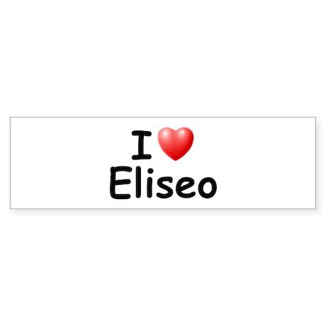 I Love Eliseo (Black) Bumper Sticker