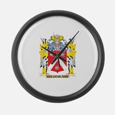 Gelderland Coat of Arms - Family Large Wall Clock