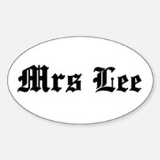 Mrs Lee Oval Decal