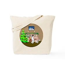 A Saint Bernard Christmas Tote Bag