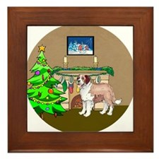 A Saint Bernard Christmas Framed Tile