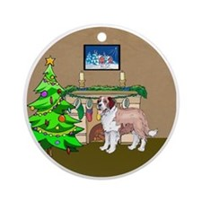 A Saint Bernard Christmas Ornament (Round)