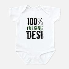 100% Folking Desi Infant Bodysuit