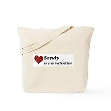 Sandy is my valentine Tote Bag