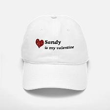 Sandy is my valentine Baseball Baseball Cap