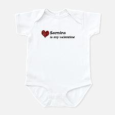 Samira is my valentine Infant Bodysuit