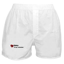 Toby is my valentine Boxer Shorts
