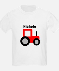 Nichole - Red Tractor T-Shirt