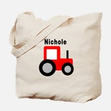 Nichole - Red Tractor Tote Bag