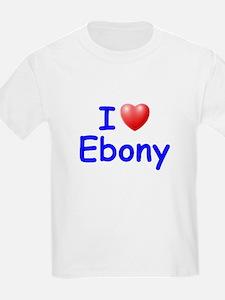 I Love Ebony (Blue) T-Shirt
