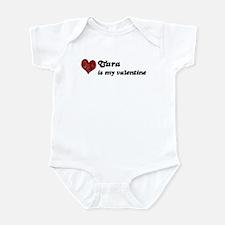 Tara is my valentine Infant Bodysuit