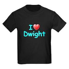 I Love Dwight (Lt Blue) T