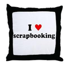 I {heart} Scrapbooking Throw Pillow