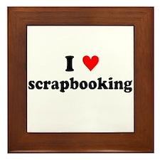I {heart} Scrapbooking Framed Tile