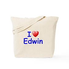 I Love Edwin (Blue) Tote Bag