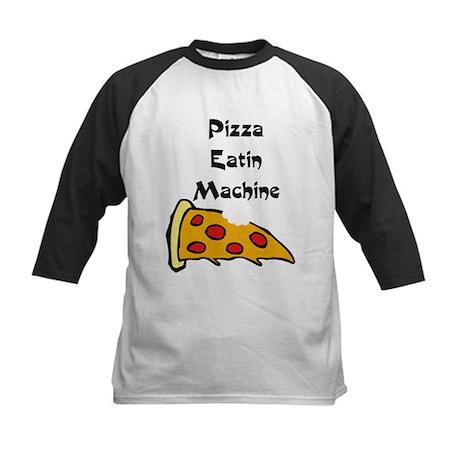 PIZZA EATING MACHINE Kids Baseball Jersey