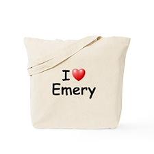 I Love Emery (Black) Tote Bag
