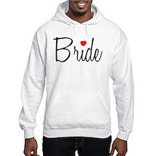 Bride (Black Script With Heart) Hoodie