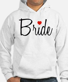 Bride (Black Script With Heart) Jumper Hoody