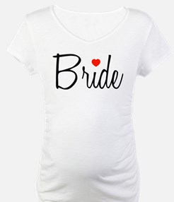 Bride (Black Script With Heart) Shirt