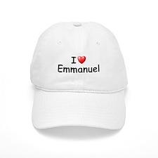 I Love Emmanuel (Black) Baseball Cap