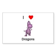 I love dragons Rectangle Decal