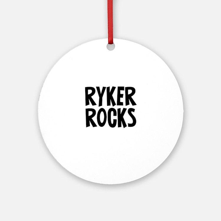 Ryker Rocks Ornament (Round)