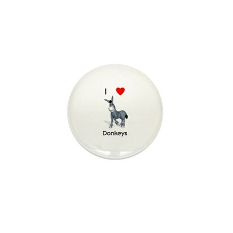 I love donkeys Mini Button