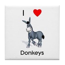 I love donkeys Tile Coaster
