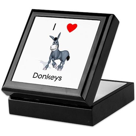I love donkeys Keepsake Box