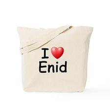 I Love Enid (Black) Tote Bag