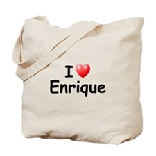 I Love Enrique (Black) Tote Bag