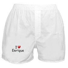 I Love Enrique (Black) Boxer Shorts