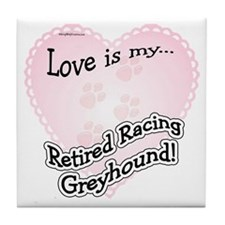 Retired Racers Love Is Tile Coaster