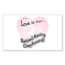 Retired Racers Love Is Rectangle Decal