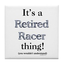 Retired Racers Thing Tile Coaster