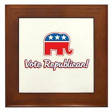 Vote Republican Framed Tile