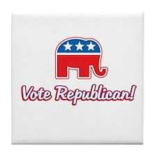 Vote Republican Tile Coaster