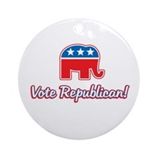 Vote Republican Ornament (Round)