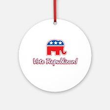 Vote Republican Ornament (Round)