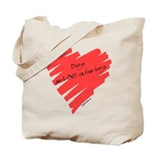 Dog Love on 4 Legs Tote Bag