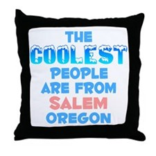Coolest: Salem, OR Throw Pillow