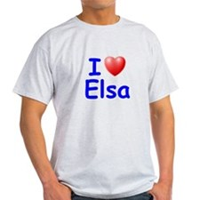 I Love Elsa (Blue) T-Shirt