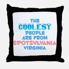 Coolest: Spotsylvania, VA Throw Pillow