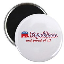 "Republican and Proud Of It 2.25"" Magnet (100 pack)"
