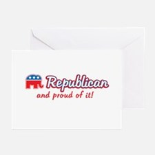 Republican and Proud Of It Greeting Cards (Pk of 1
