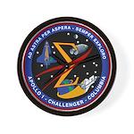Spaceflight Memorial Patch Wall Clock
