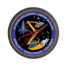 Spaceflight Memorial Patch Wall Clock